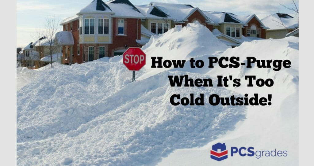 How to Purge For Your PCS Move When It's Too Cold Outside