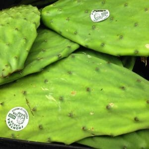 Prickly Pear, sold in grocery stores for cooking!
