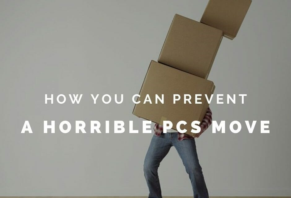 How to prevent a horrible PCS move