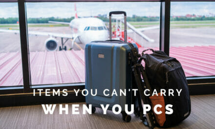 Items You Can't Hand-Carry on a PCS
