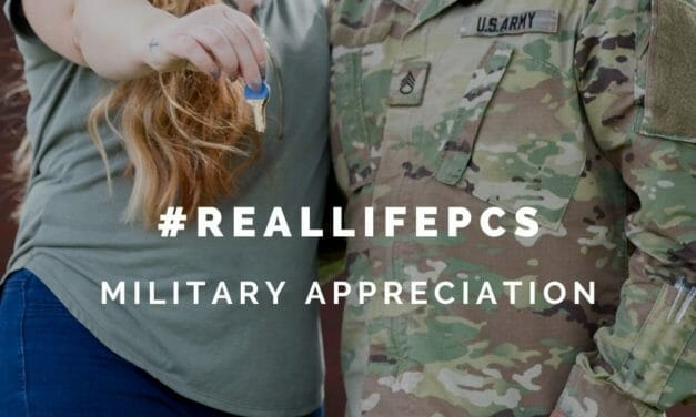 #RealLifePCS challenge during Military Appreciation Month