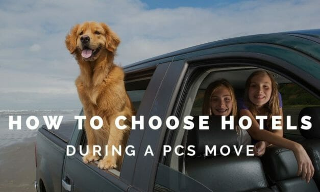 How to Choose a Hotel during PCS Moves