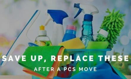 Essential household items to replace after a PCS move