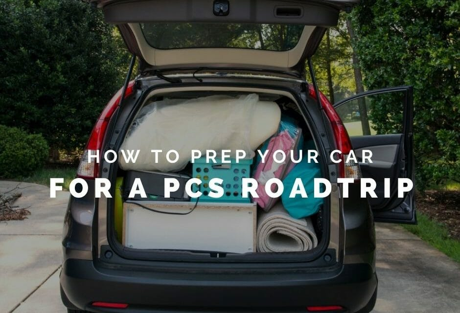 Prepare your car for a PCS roadtrip