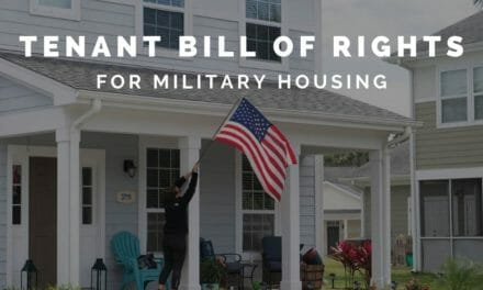 The new Tenant Bill of Rights for military housing