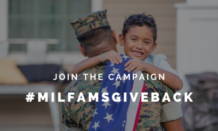 How to Get Involved in the #MilFamsGiveBack Campaign