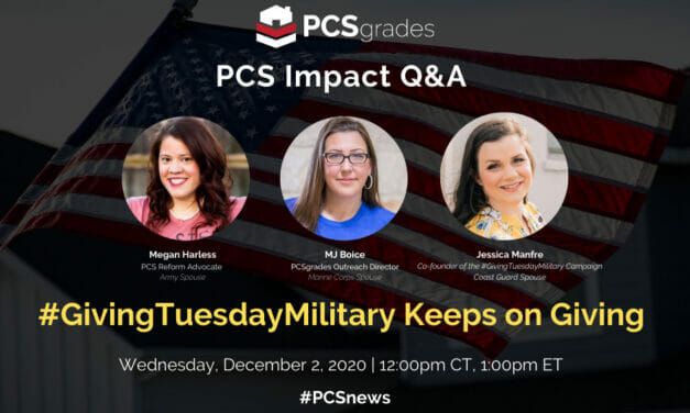 PCS Impact Q&A : #GivingTuesdayMilitary Keeps on Giving