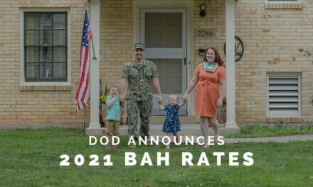 2021 BAH Rates are Released