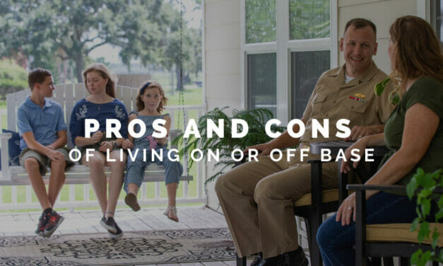 Whether to Live on Base or off Base?