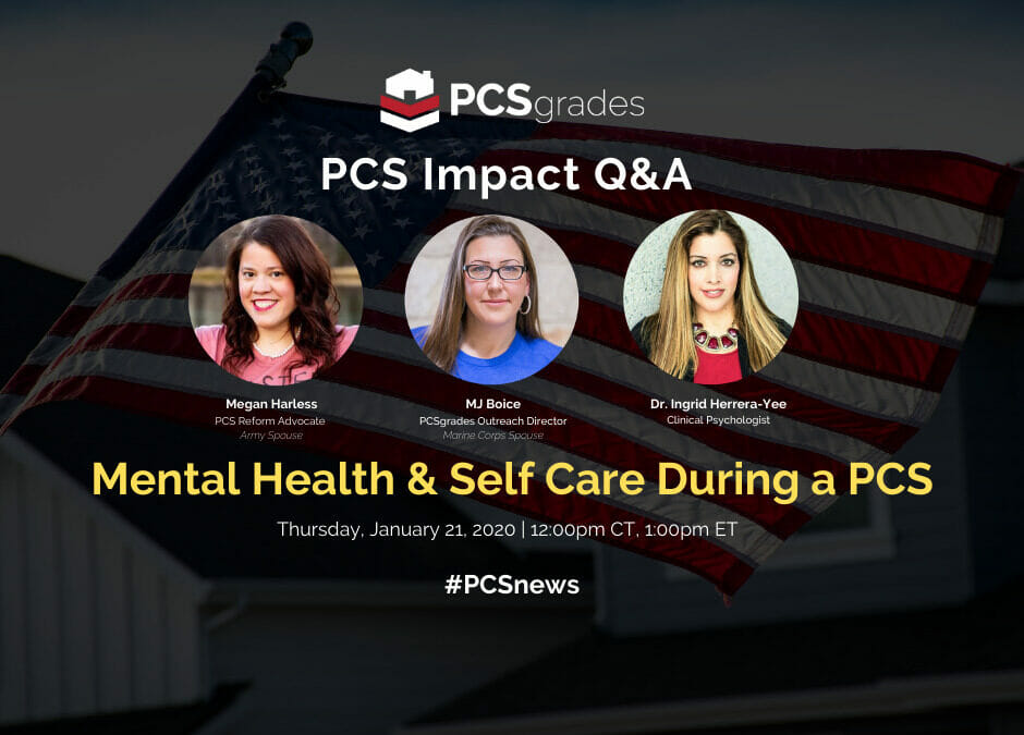 Mental Health & Self Care During a PCS