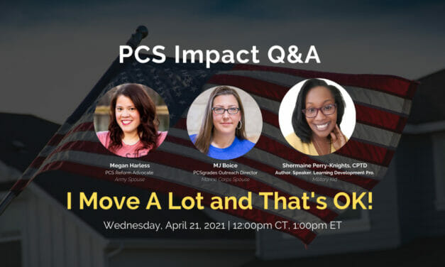 PCS Q&A: I Move A Lot and That's OK!
